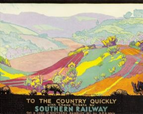 Southern Railway vintage poster 1930